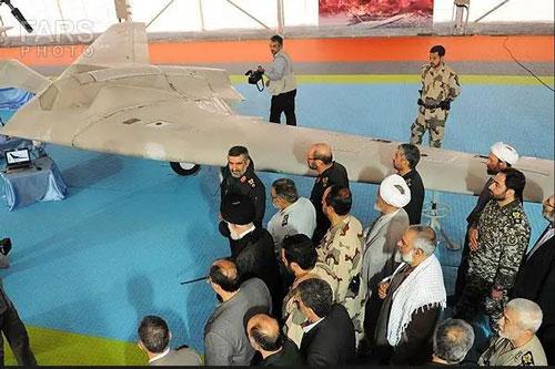 Hình ảnh trên truyền hình Iran cho thấy vật thể mà họ nói là chiếc RQ-170 của Không quân Mỹ