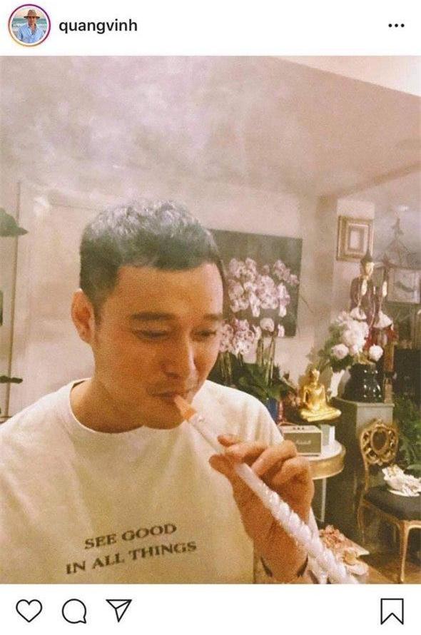 Bị Liên Bỉnh Phát đặt nghi vấn hút shisha vì đăng ảnh khói mờ lên Instagram, Quang Vinh nói gì? - Ảnh 2.