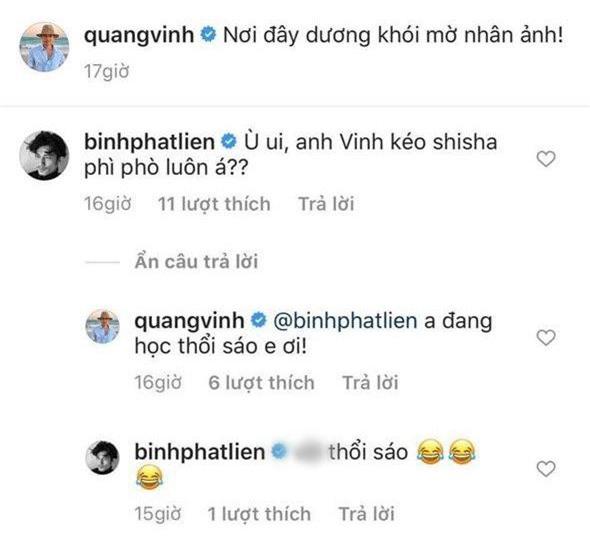 Bị Liên Bỉnh Phát đặt nghi vấn hút shisha vì đăng ảnh khói mờ lên Instagram, Quang Vinh nói gì? - Ảnh 3.