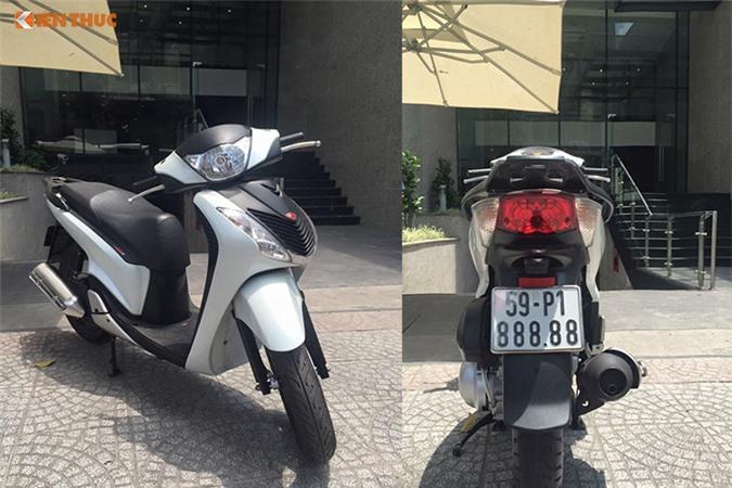 Honda SH nhập Ý mang biển số