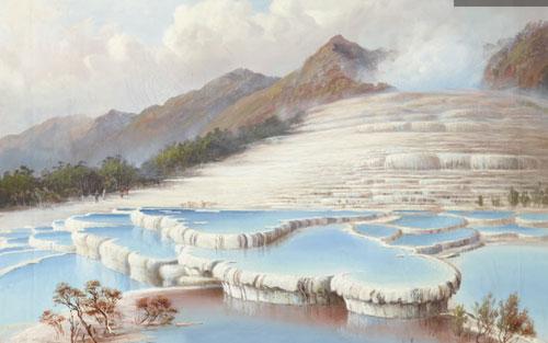 Những bậc thang trắng hồng được khắc họa lại trong các tác phẩm của danh họa Charles Blomfield.