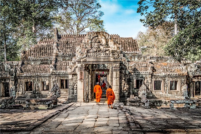 Angkor Wat thu hút hai triệu khách du lịch mỗi năm.