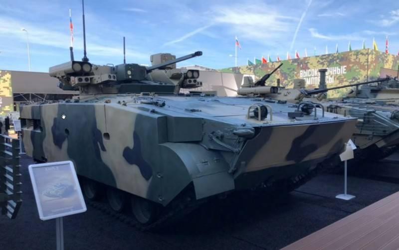 Xe chiến đấu bộ binh Manul được giới thiệu tại Triển lãm Army-2020. Ảnh: TASS.