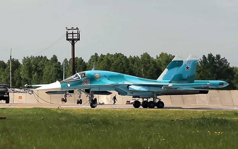 Máy bay ném bom tiền tuyến Su-34 của Không quân Nga. Ảnh: Izvestia.