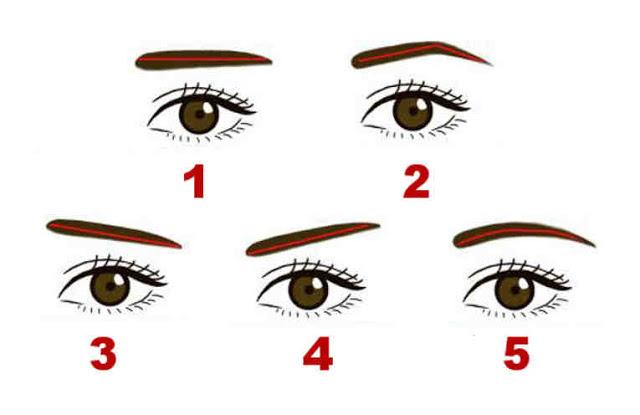 Bạn chọn dáng lông mày số mấy?