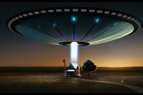Hình minh họa sự xuất hiện của đĩa bay.