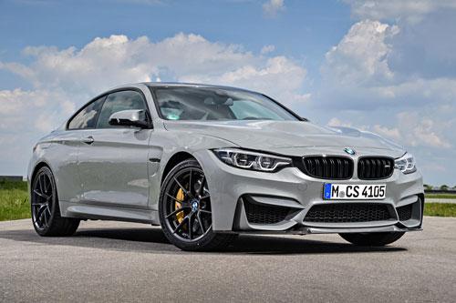 6. BMW M4 CS. M4 CS được BMW trang bị động cơ I6 tăng áp kép dung tích 3 lít cho công suất 454 mã lực, mô-men xoắn 599 Nm. Hộp số tự động 7 cấp cùng hệ dẫn động cầu sau. Thời gian chạy nước rút từ 0-96 km/h chỉ 3,7 giây, vận tốc tối đa 280 km/h.