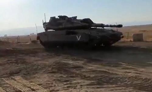 Xe tăng chiến đấu chủ lực Merkava Mk IV của Israel bị bỏ quên trên Cao nguyên Golan. Ảnh: Defence Blog.