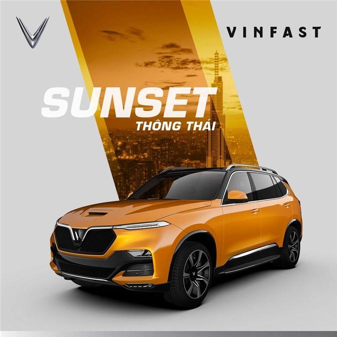 VinFast President màu vàng cam.