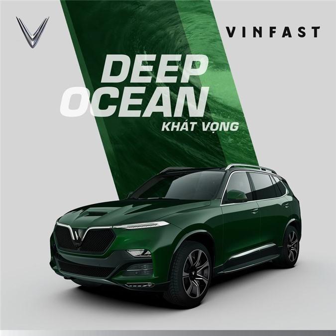 VinFast President màu xanh.