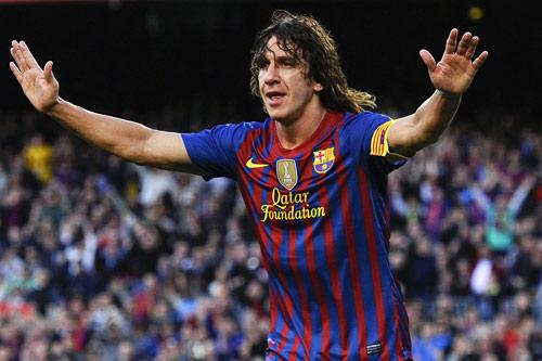 7. Carles Puyol - Thời gian thi đấu từ 1999 đến 2014.