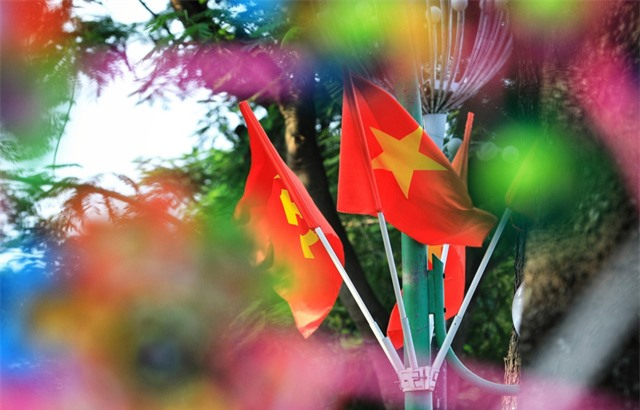 Hà Nội rực rỡ cờ hoa chào mừng Quốc khánh 2/9 - Ảnh 7.