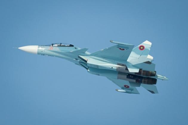 Tiêm kích đa năng Su-30SM của Không quân Armenia. Ảnh: Avia-pro.