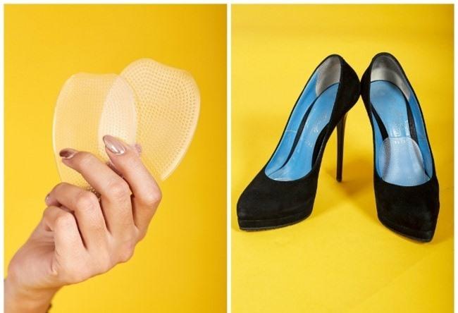 Dùng miếng lót silicon giảm độ cọ xát của chân với giày