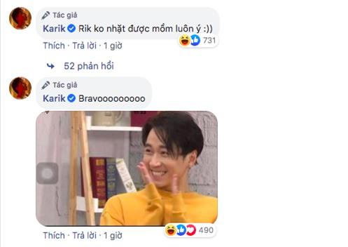 Chúc thí sinh Trường Giang làm nên chuyện tại Rap Việt, Karik tự đăng tự cười không nhặt được mồm - Ảnh 3.