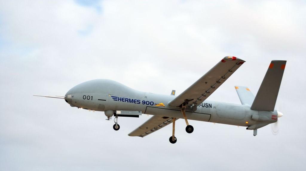 Máy bay không người lái trinh sát Hermes-900 của Israel. Ảnh: Wikipedia.