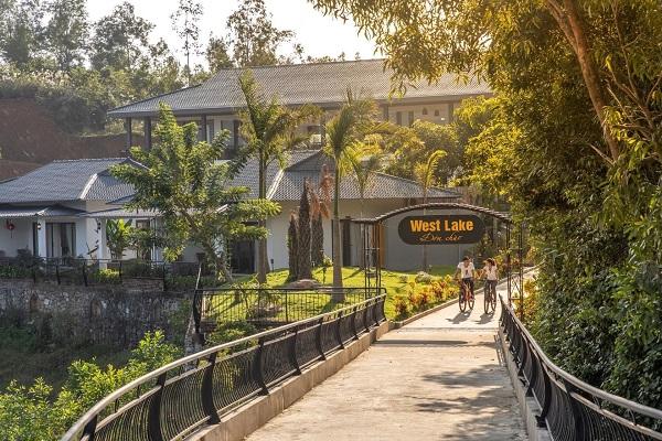 Một góc của khu nghỉ dưỡng Phong Nha Lake House Quảng Bình.