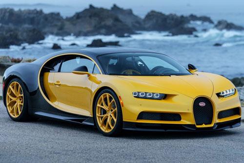 2. Bugatti Chiron 2020 (thời gian tăng tốc từ 0-100 km/h: 2,3 giây).