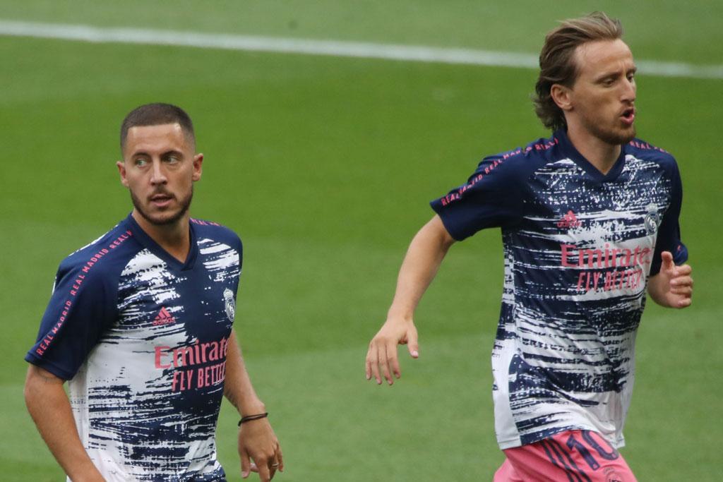 Hazard và Modric.