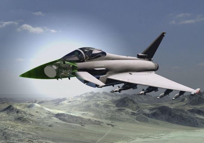 Tiêm kích Eurofighter Typhoon sẽ được trang bị radar AESA thế hệ mới. Ảnh: Janes Defense.