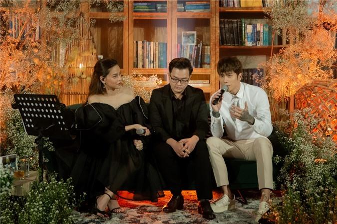 Nhạc sĩ Nguyễn Minh Cường (giữa) và Dickson Nguyễn chia sẻ về việc hợp tác Hồ Ngọc Hà trong Love Songs 2020.