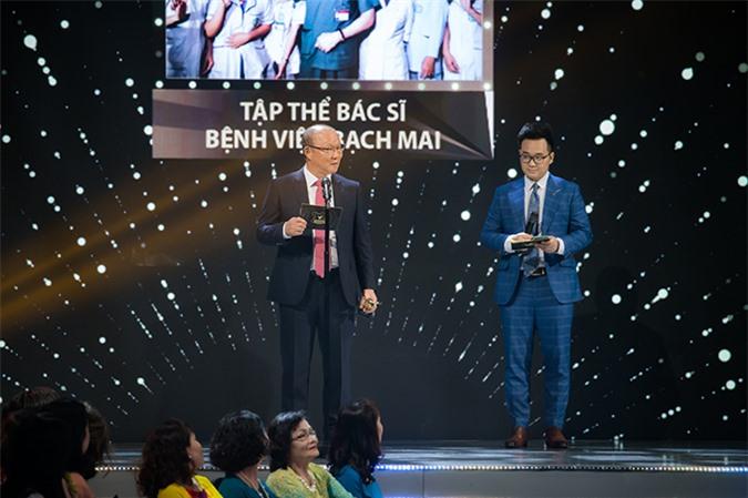 Huấn luyện viên Đội tuyển Quốc gia Việt Nam Park Hang-seo cũng tham gia trao giải cho một hạng mục của VTV Awards 2020.