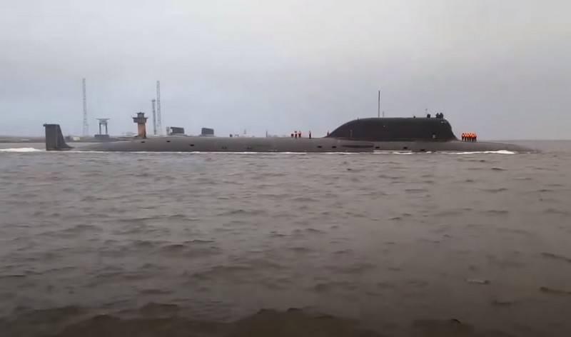 Tàu ngầm hạt nhân Kazan - Dự án 855M (Yasen-M) của Hải quân Nga. Ảnh: TASS.