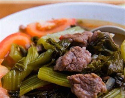 Ẩm thực, làm mẹ,nấu ăn, món ngon, gia đình, vợ chồng, khéo tay, chăm sóc sức khỏe, nuôi con, làm dâu, thịt bò kho dưa, thịt ba chỉ khi dưa
