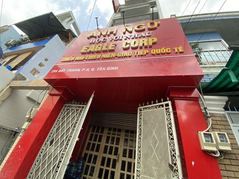 Trung tâm Anh ngữ Đại Bàng tại số 194 Đất Thánh, phường 6, quận Tân Bình đã đóng cửa từ đầu tháng 8.