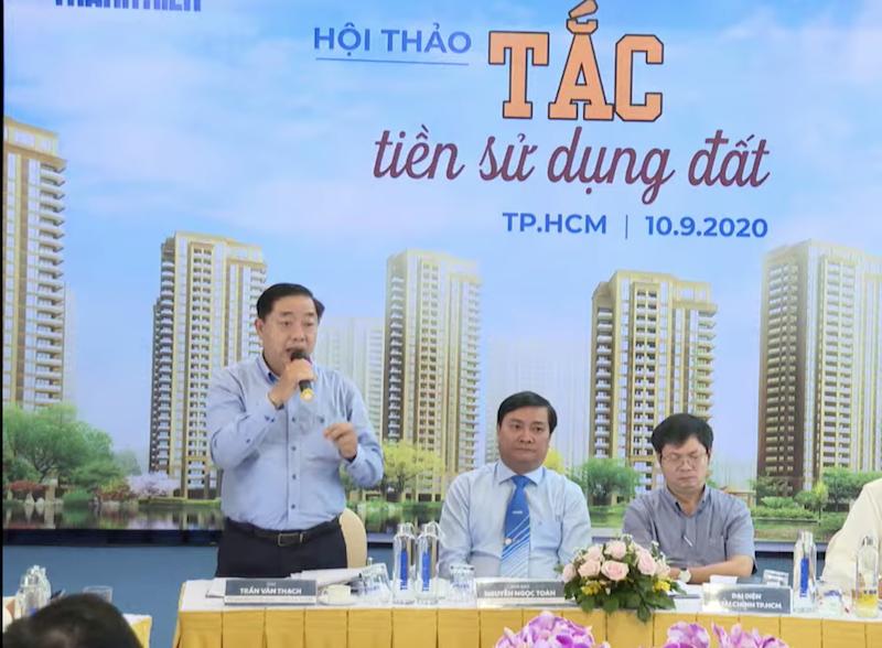 Ông Trần Văn Thạch - Phó giám đốc Sở Tài nguyên Môi trường TP.HCM.
