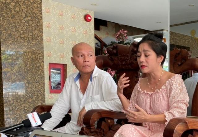 Vợ chồng ông Hoàng Mão và bà Ánh Nguyệt cùng kêu oan.