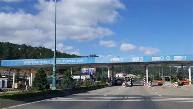 Trạm thu phí Định An trên cao tốc Liên Khương – Prenn.