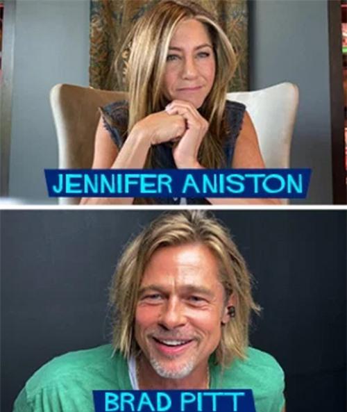 Jennifer và Brad Pitt trong buổi gặp gỡ trực tuyến đầu tiên để đọc kịch bản phim.