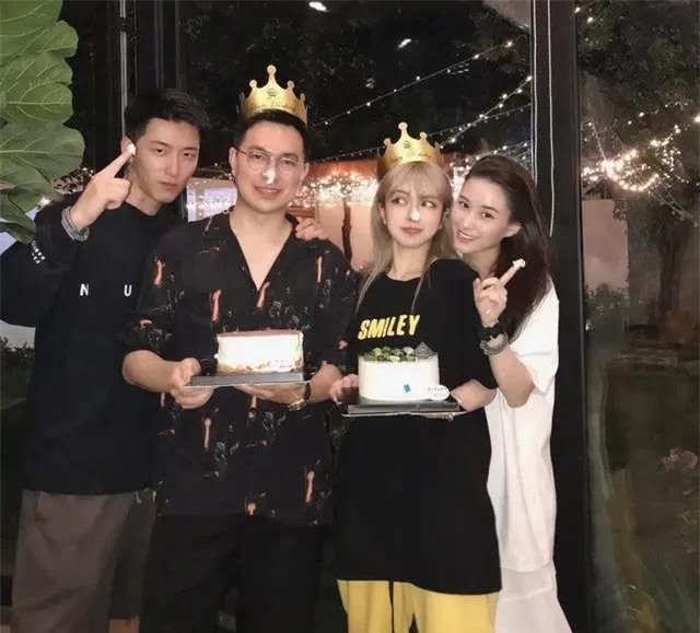 Đậu Kiêu và bạn gái dự sinh nhật Chu Dương Thanh tuần trước.