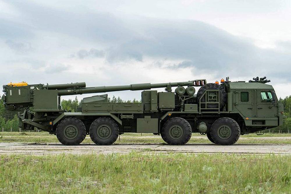 Lựu pháo tự hành Malva cỡ 152 mm của Nga. Ảnh: Topwar.