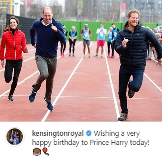 Bài đăng chúc mừng sinh nhật Harry của nhà Cambridge. Ảnh: Instagram.