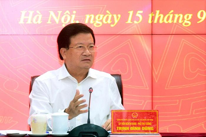 Phó Thủ tướng Trịnh Đình Dũng phát biểu tại Hội nghị.