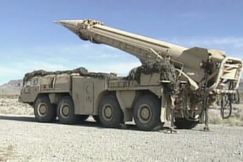 Tên lửa đạn đạo chiến thuật R-17 Elbrus (Scud) của LNA. Ảnh: Sohu.