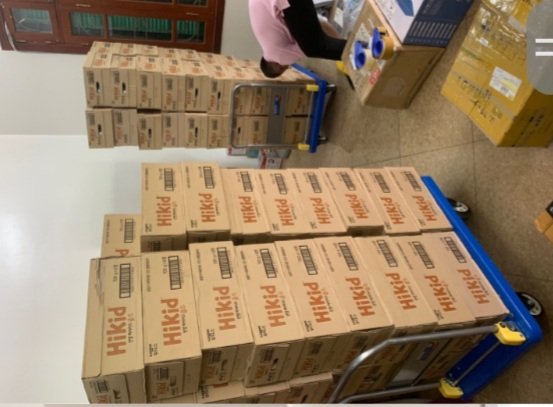Phát hiện 136 thùng thực phẩm bổ sung dinh dưỡng Hikid.
