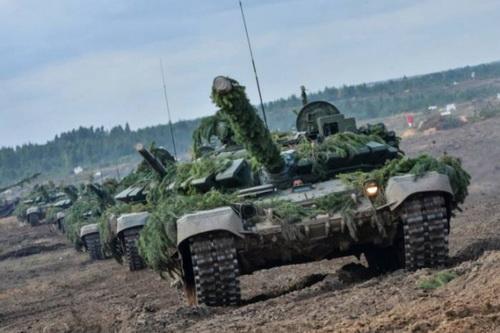 Xe tăng chiến đấu chủ lực T-72B3 của Quân đội Belarus. Ảnh: TASS.