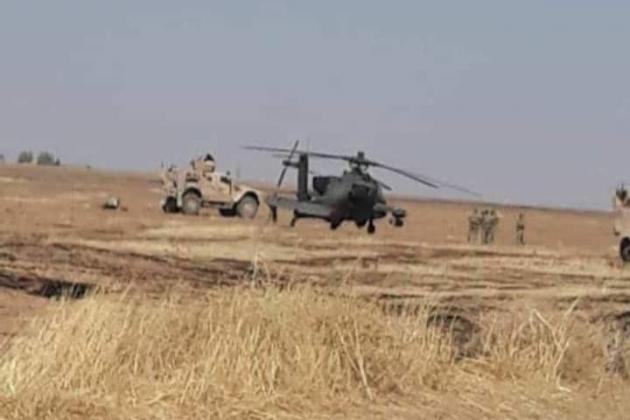 Trực thăng tấn công AH-64 Apache của Mỹ đã phải hạ cánh khẩn cấp. Ảnh: Avia-pro.