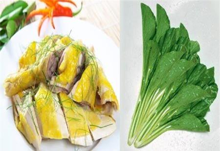 thực phẩm cấm ăn với thịt gà
