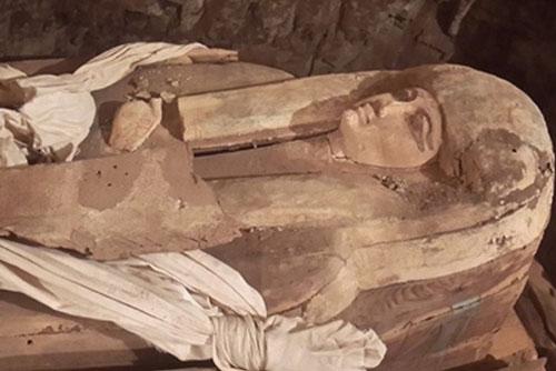 Lăng mộ của một nữ ca sĩ hoàng gia thời Pharaoh tại di chỉ khảo cổ Saqqara. (Nguồn: Ahram Online)