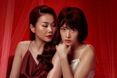 Thanh Hằng và Chipu trong phim Chị chị em em.
