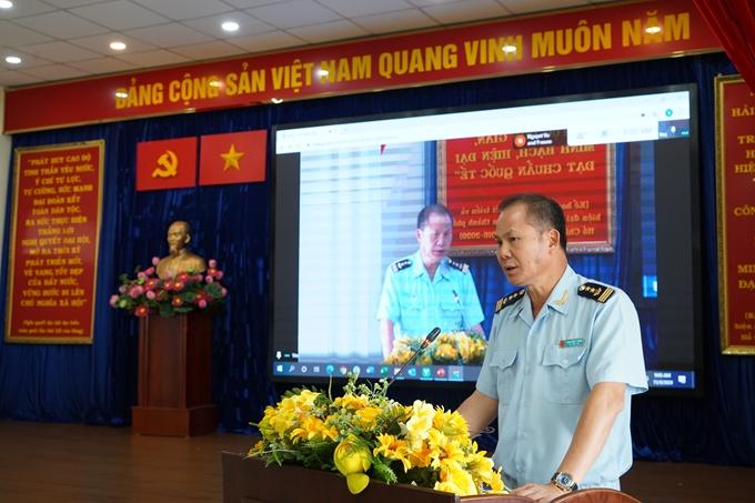 Đồng chí Đinh Ngọc Thắng,  Cục trưởng Cục Hải quan TP.HCM phát biểu.