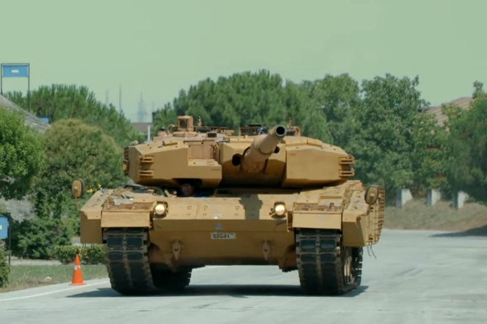 Xe tăng Leopard 2A4 của Thổ Nhĩ Kỳ đã được nâng cấp khả năng bảo vệ. Ảnh: Topwar.