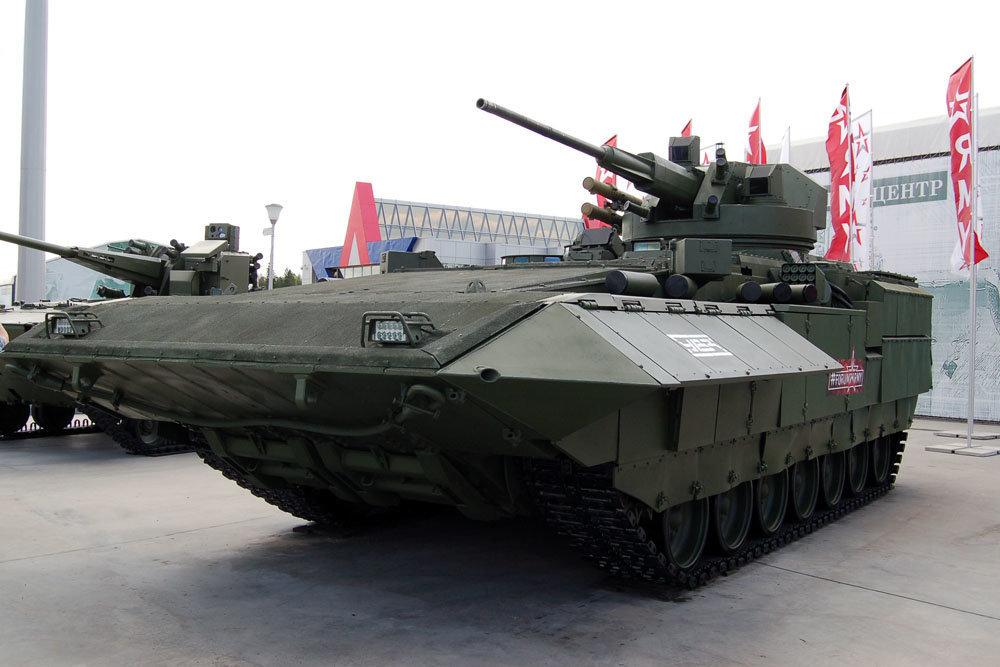 Xe chiến đấu bộ binh hạng nặng T-15 Armata của Nga. Ảnh: National Interest.