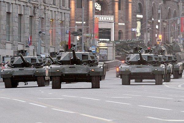 Xe tăng chiến đấu chủ lực T-14 Armata của Nga. Ảnh: TASS.