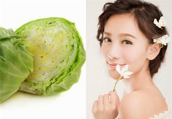 trị mụn thịt với rau bắp cải