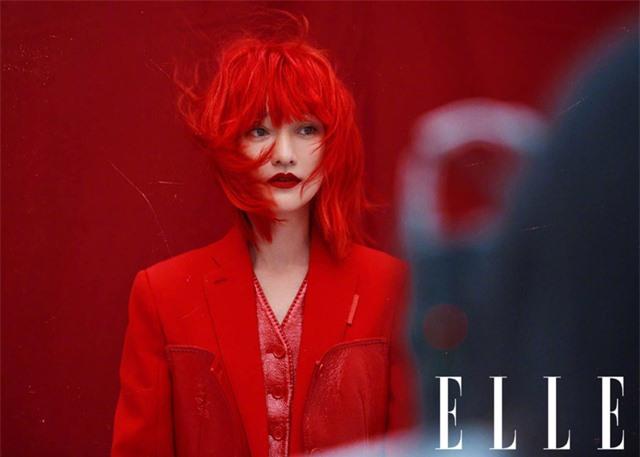 Châu Tấn biến hóa kỳ ảo trên ấn phẩm đặc biệt của Elle - Ảnh 3.